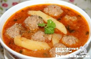 Тефтелевый суп пошаговый рецепт